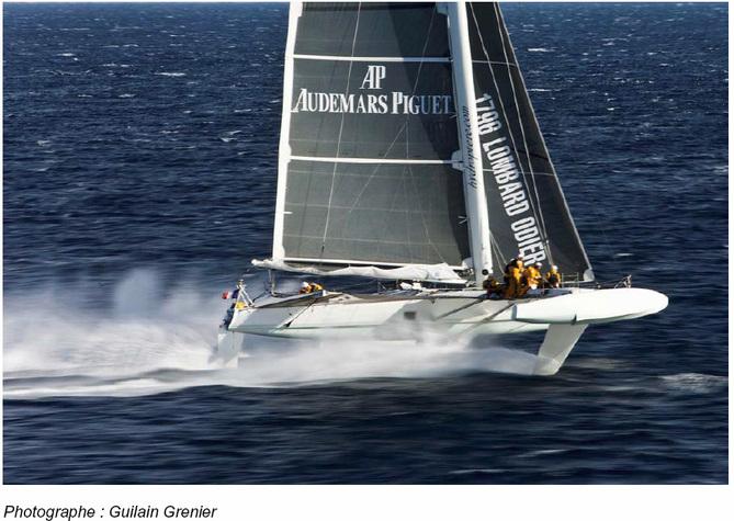 Audemars Piguet sponsor de l'Hydroptère, le fameux trimaran « volant »