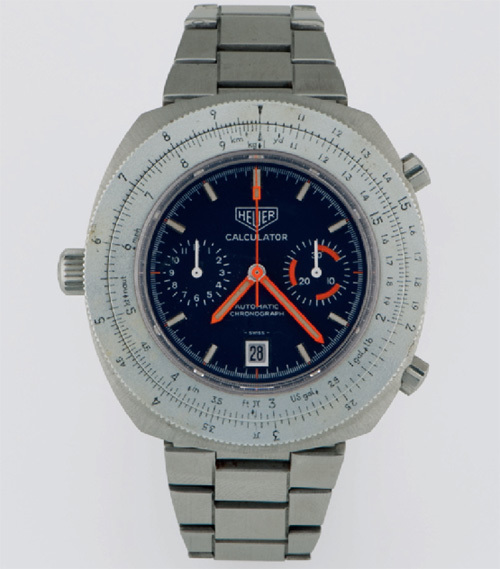 "HEUER, CALCULATOR, ""AUTOMATIC CHRONOGRAPH"", VERS 1972"