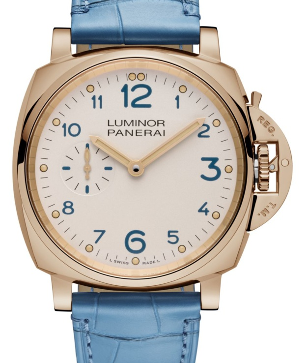 Panerai Luminor Due 3 jours or rouge : la plus féminine