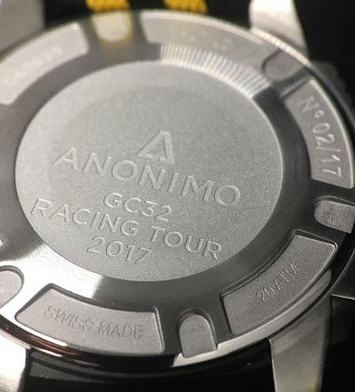 Anonimo Nautilo : série limitée GC32 noire et jaune