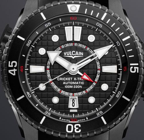 Diver X-treme automatique Vulcain (détail)