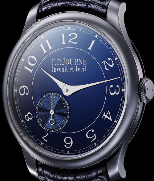 Chronomètre Bleu F.P. Journe : l'heure bleue