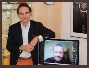Genève/Moscou, juillet 2009 : rencontre entre l'horloger Denis Asch et Alexander Vetrov, rédacteur en chef de Armband Uhren