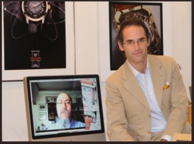 Genève/Lisbonne,août 2009 : rencontre entre l'horloger Denis Asch et Fernando Correia de Oliveira, journaliste et chercheur portugais spécialiste de la question du Temps