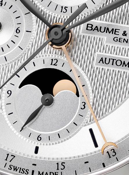Baume et Mercier : chronographe et calendrier complet dans la collection Classima