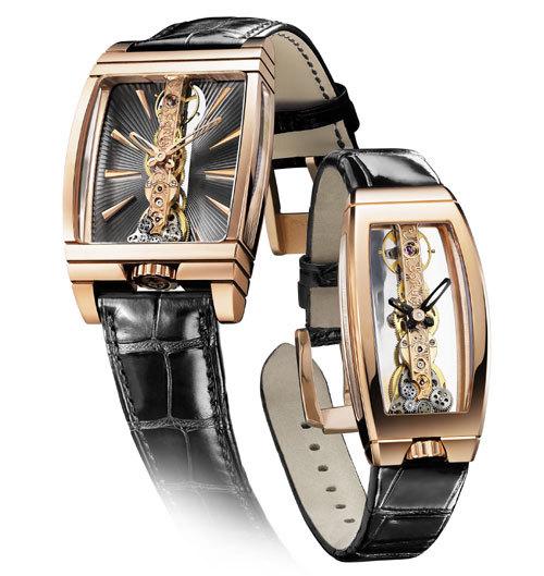 Corum présente deux nouvelles montres Golden Bridge : une pour elle et une pour lui