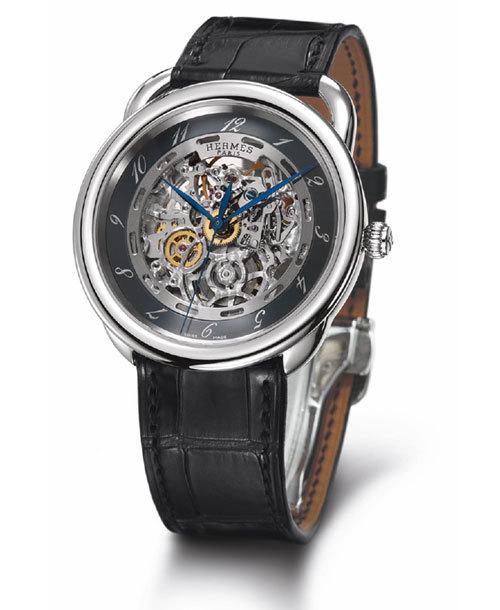 Hermès Arceau Squelette, cadran noir