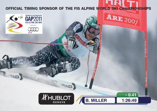 Hublot : chronométreur officiel des Championnats du Monde de ski en 2011
