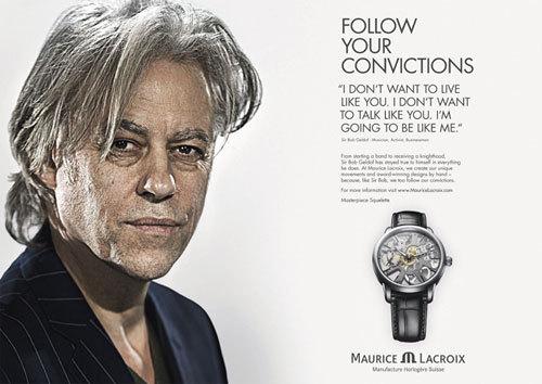 Bob Geldof, Jimmy Wales et Justin Rose: les nouveaux ambassadeurs Maurice Lacroix