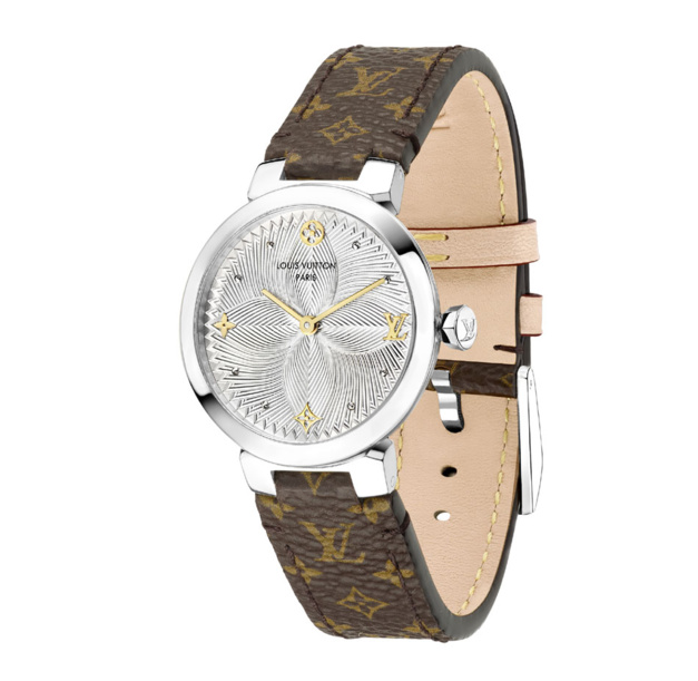 Louis Vuitton Tambour Slim Metallic Flower