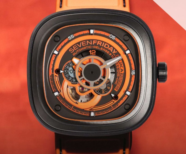 SevenFriday Kuka III : orange mécanique