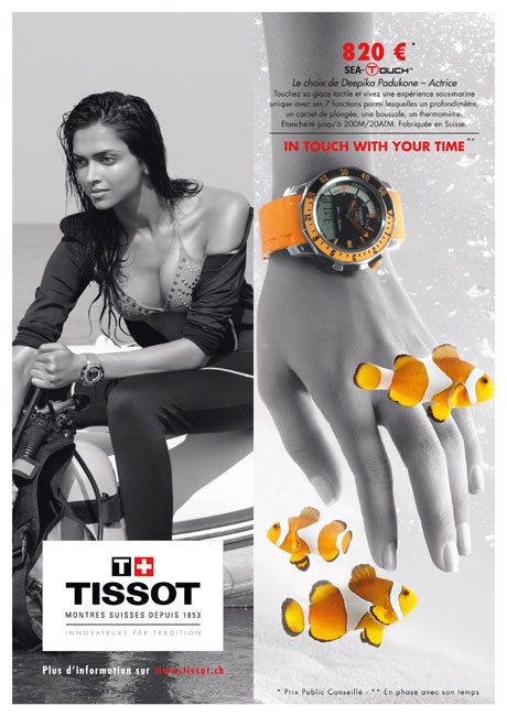Tissot In touch with your time avec Deepika Padukone