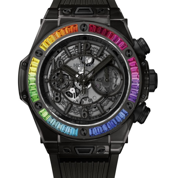 Hublot Big Bang All Black Sapphire Rainbow