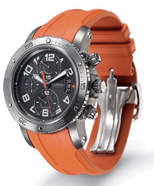 Clipper chrono mécanique 44 mm Hermès