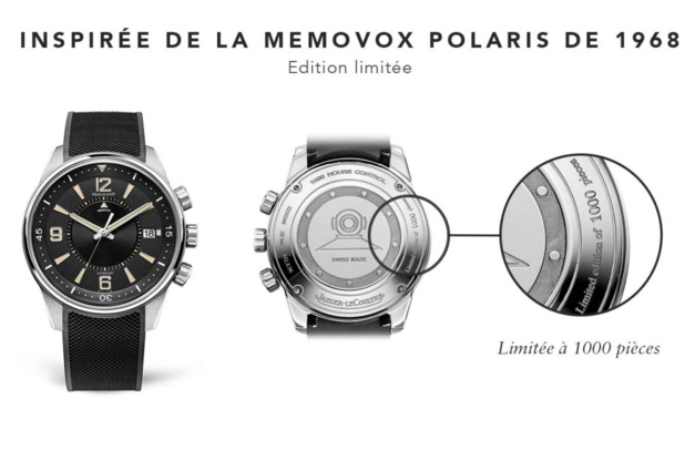 Jaeger-LeCoultre Polaris Memovox : 1000 ex. pour les 50 ans de cette icône