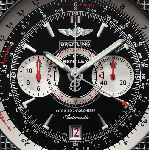 Breitling for Bentley Supersports : un chrono avec tachymètre fixe et tachymètre variable