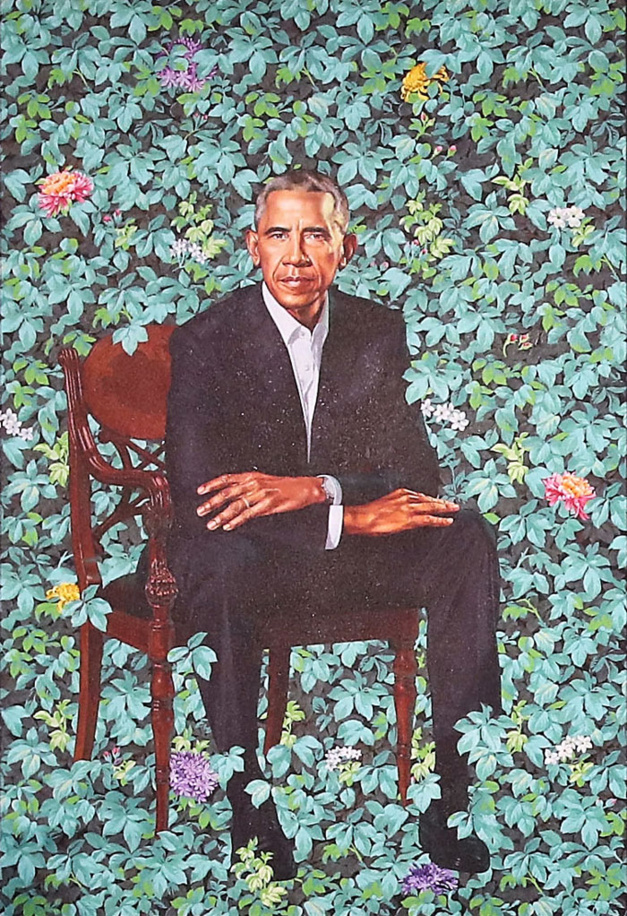 Portrait Barack Obama by Kehinde Wiley