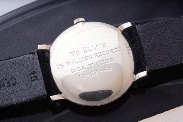 L'Omega en or blanc d'Elvis vendue à Genève en mai prochain