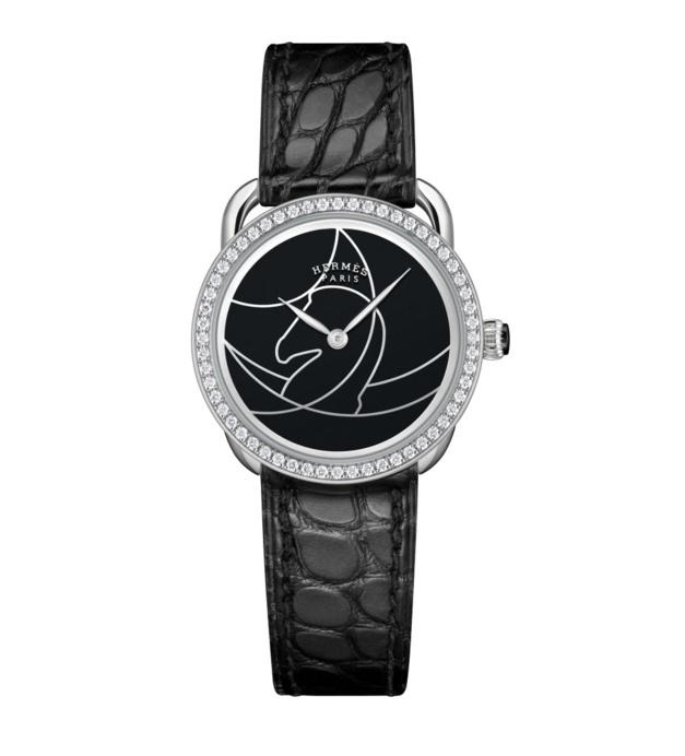 Hermès Arceau Cavales : du noir et du blanc