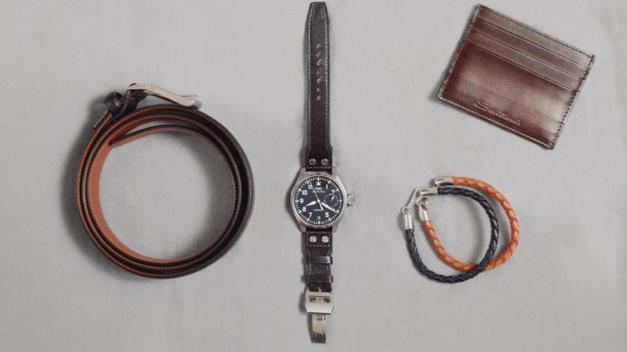 Santoni et IWC lance une ligne d'accessoires en cuir