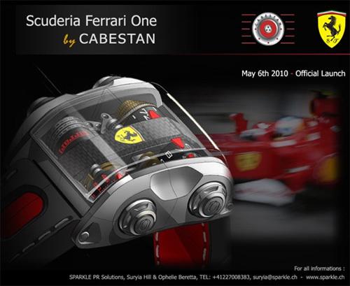 Cabestan crée une montre Ferrari proposée uniquement aux clients de la marque automobile au cheval cabré !