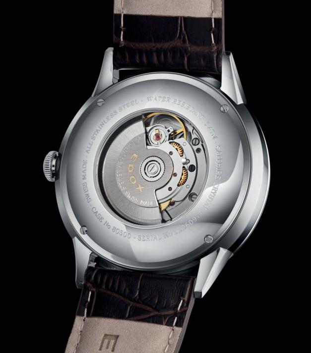 Edox Les Vauberts Automatic : une phase de Lune d'entrée de gamme