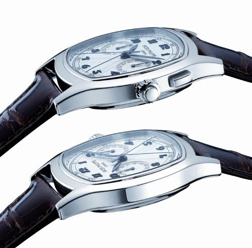 Chronographe mono-poussoir à rattrapante Patek Philippe 5950A : a comme acier