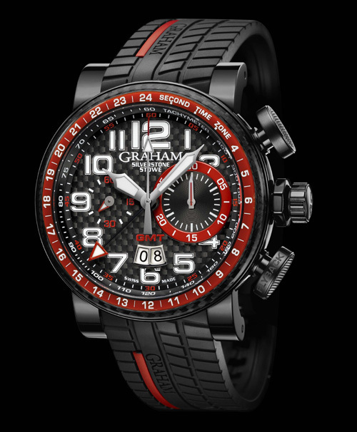 Graham London Silverstone Stowe GMT Red et Silverstone Stowe GMT green : vrombissant hommage à la course