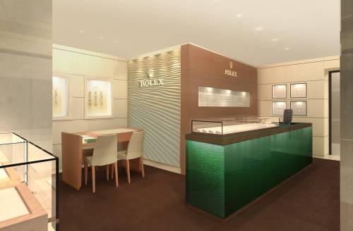 Rolex s'installe au premier étage du Printemps Haussmann