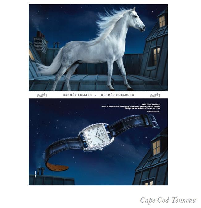 Hermès : une nouvelle campagne de publicité pour ses collections horlogères