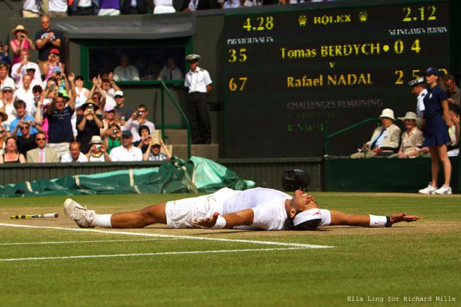 Rafael Nadal remporte Wimbledon avec sa Richard Mille RM 027 au poignet