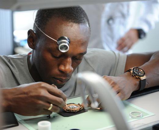 Usain Bolt court chez Hublot pour un événement caritatif
