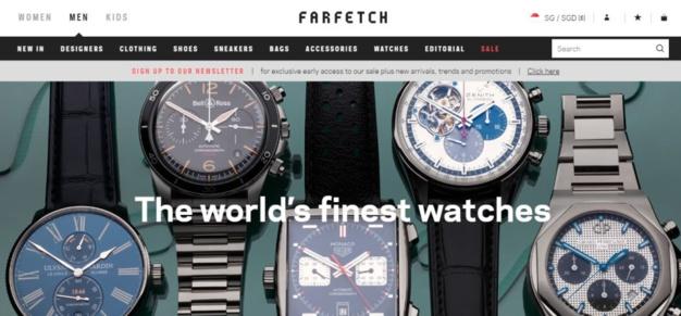 Farfetch se lance dans la vente en ligne de montres de luxe