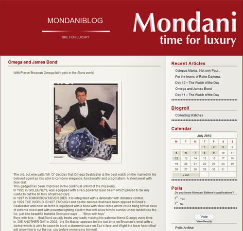 MondaniBlog : un nouveau site de référence dans la montre de collection