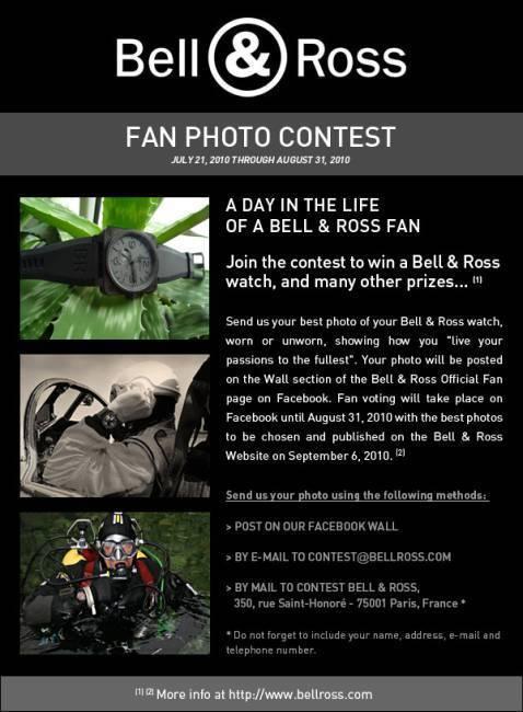 Bell & Ross lance un grand concours de photo de montre