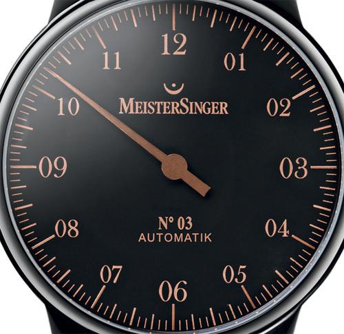 MeisterSinger N° 03 Black PVD Edition Spéciale : noire et bronze