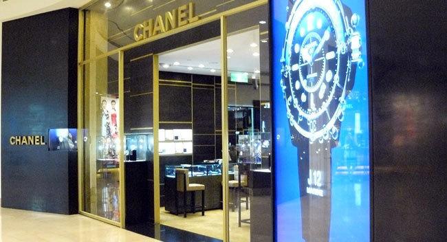 Boutique Chanel dans le centre commercial de la tour Tapei 101