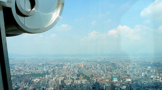 Vue de Taipei du haut de la Tour Taipei 101