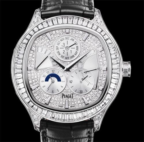 Piaget Emperador Coussin Quantième Perpétuel sertie de diamants