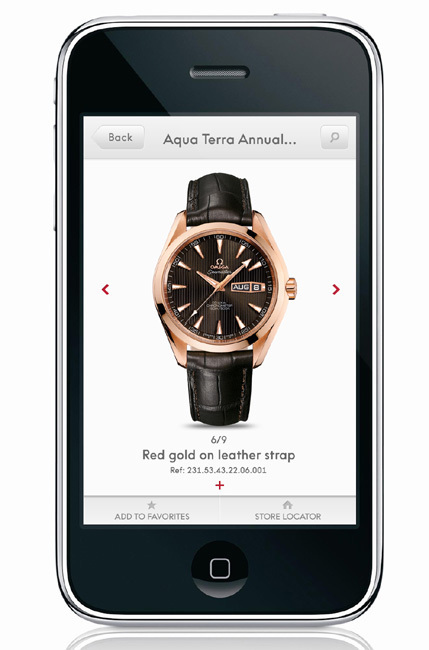 Omega lance son application iPhone