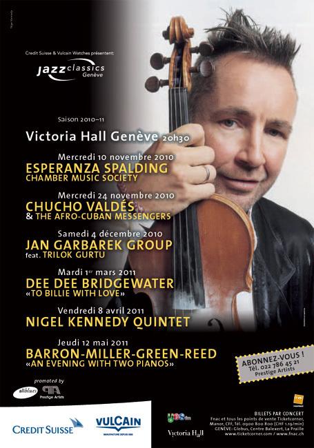 Vulcain accompagne les plus grands jazzmen du monde à l'occasion du Jazz Classics and Recitals