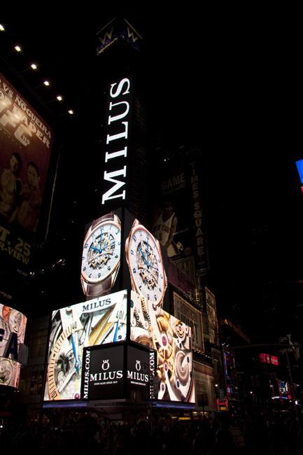 Milus donne l'heure sur Times Square à New York avec la Tirion Répétition Minutes trirétrograde