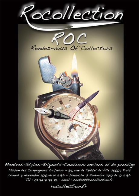 Rocollection, le nouveau Rendez-vous des Objets de Collection : montres, briquets, stylos et couteaux anciens