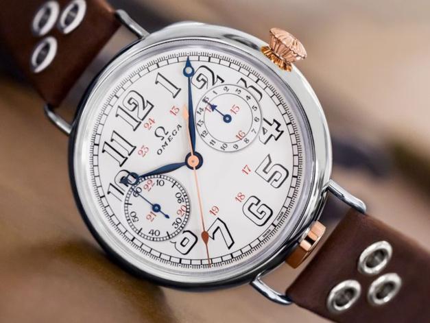 Omega : hommage rétro au premier chrono avec calibre d'époque !