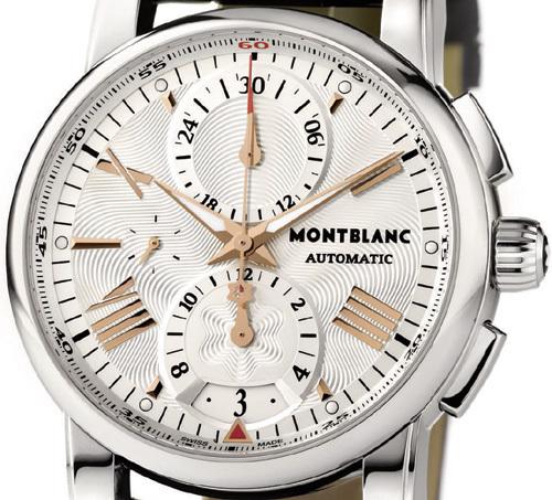 Montblanc Star 4810 Chronograph Automatic : de l'acier et une légère touche d'or rouge
