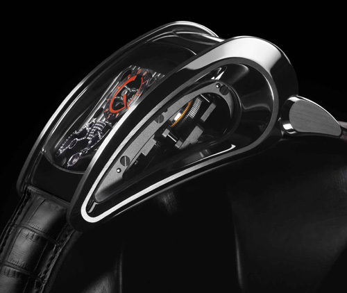 Bugatti Super Sport Parmigiani Fleurier : affichage latéral du temps pour lecture à 431 km/h