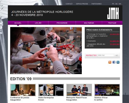 La Chaux-de-Fonds : les Journées de la Métropole Horlogère du 4 au 20 novembre 2010