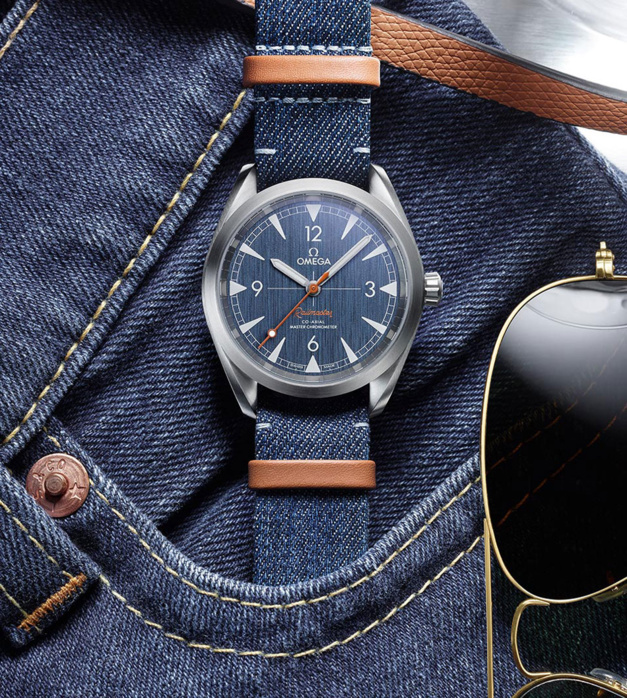 Omega Railmaster Co-Axial Master Chronometer 40 mm denim