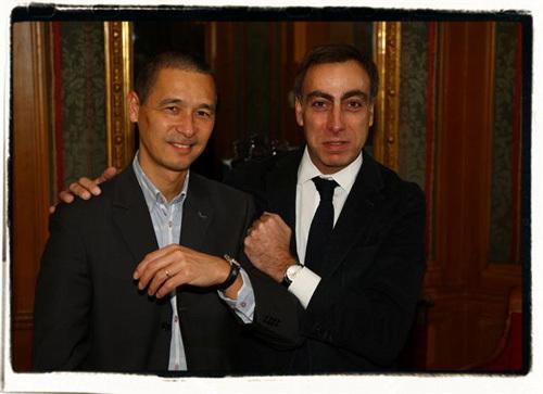 Michel et Manuel Jacob, directeur de la filiale Zenith France, Belgique et Luxembourg