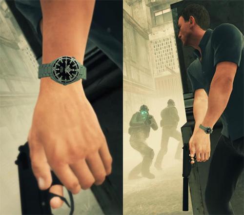 James Bond 007 : Blood Stone, l'espion porte une Omega Seamaster dans ce jeu video